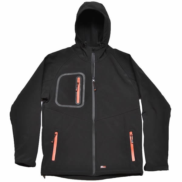 Castle TuffStuff 255 Hertford black hooded soft-shell jacket size small-2XL